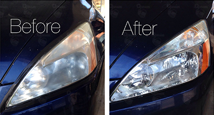Toothpaste is great for clearing the headlights